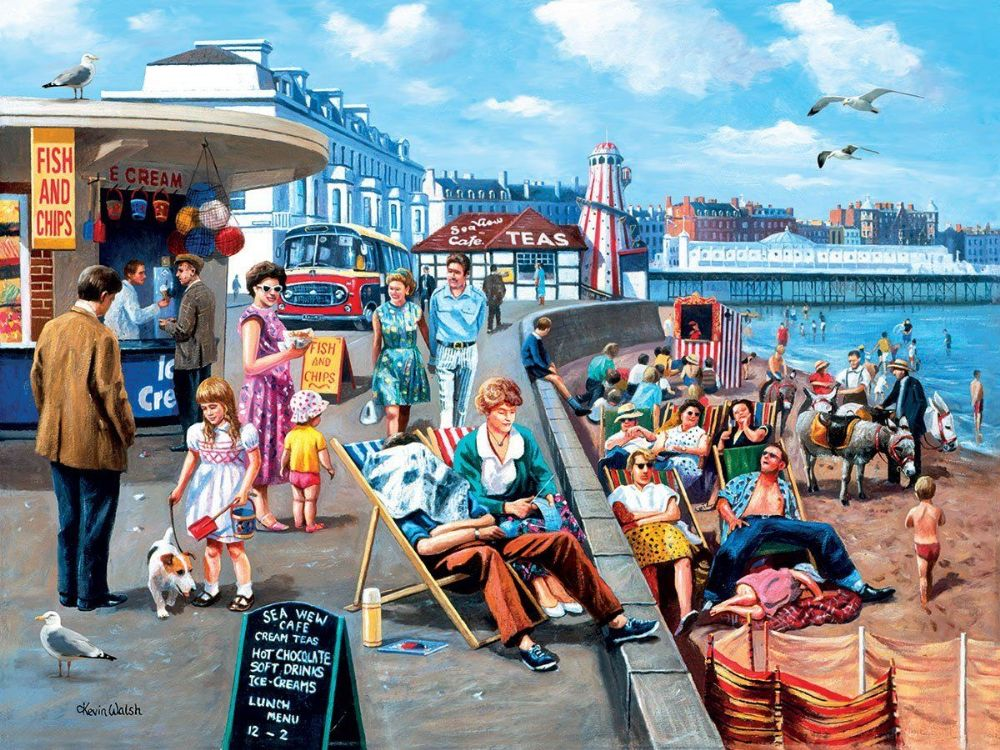 Beside The Seaside 500 Piece 3d Jigsaw Kevin Walsh Prime